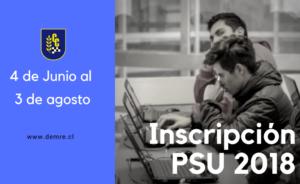 Inscripción PSU 2018