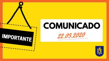 Comunicado 22 Marzo 2020