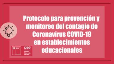 PROTOCOLO CORONAVIRUS DEG MINISTERIO DE EDUCACIÓN