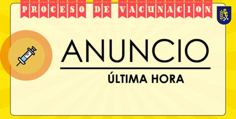HOY , ÚLTIMO DÍA DE VACUNACIÓN