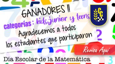 Ganadores Día Escolar de la Matemática