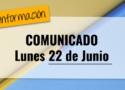 Comunicado 22 junio