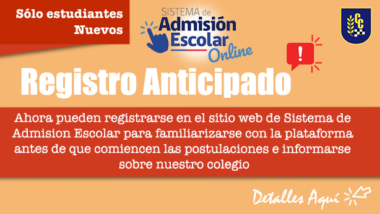 Registro Anticipado