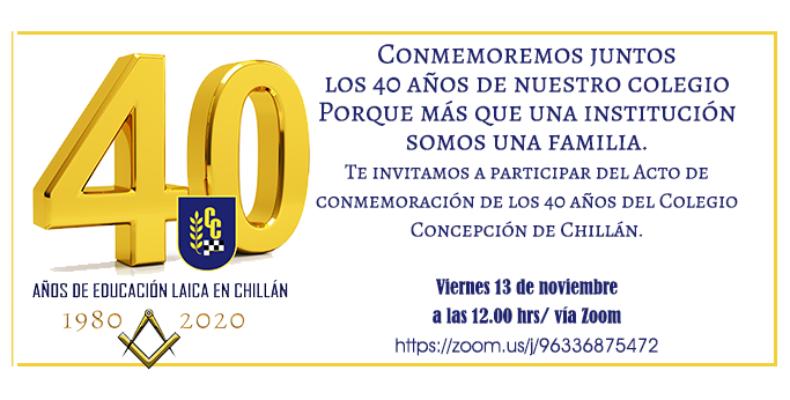 Acto del Cuadragésimo Aniversario del Colegio Concepción de Chillán