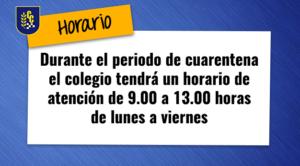 Horario cuarentena